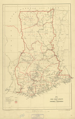 Map Of The Gold Coast Ashanti And Northern Territories